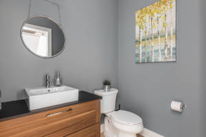 custom bathroom by HE Homes