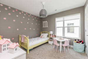 new built home, custom children's bedroom