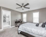 custom new home bedroom