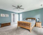 new built home bedroom