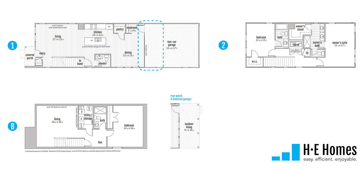 Curiosity Floorplan - HE-Homes
