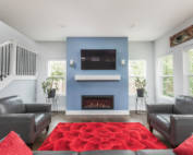 custom home living room Indianapolis