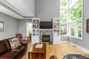 custom home living interior