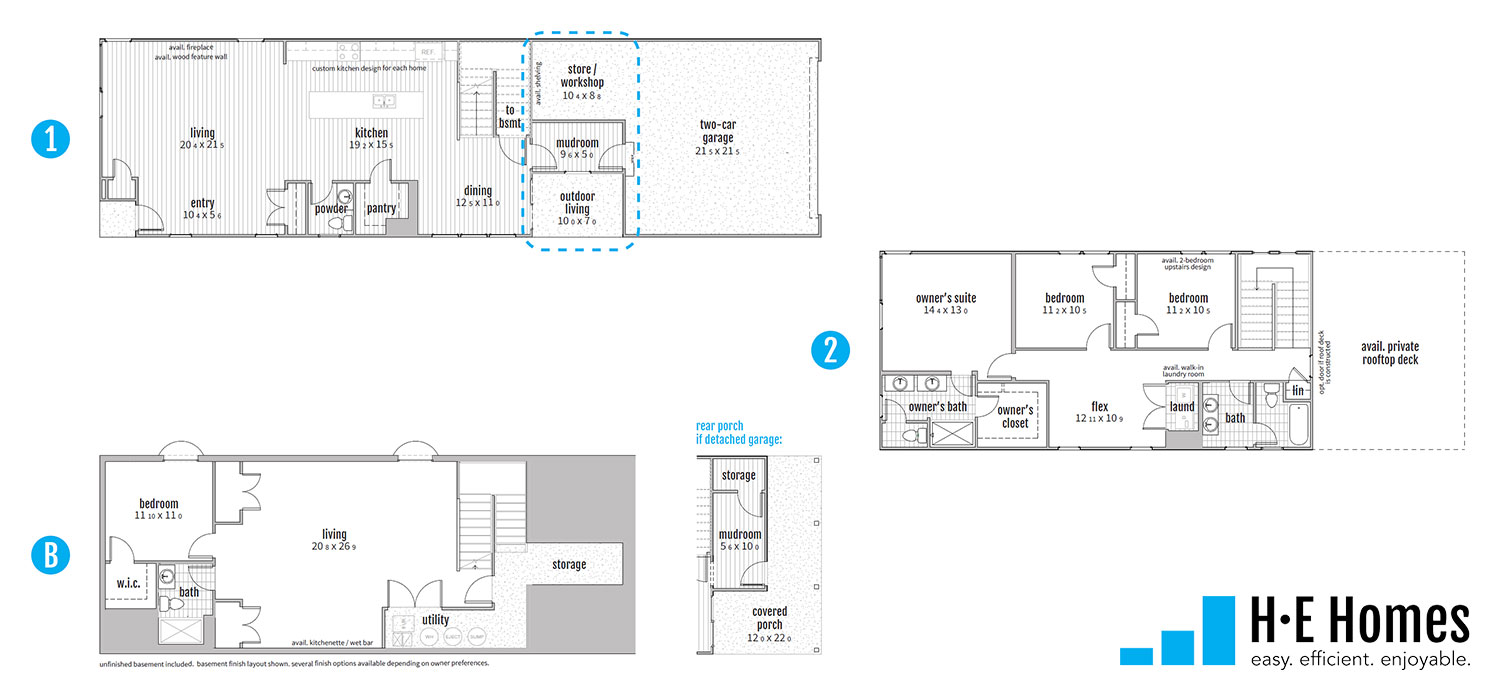 Thrive Floorplan - H-E Homes