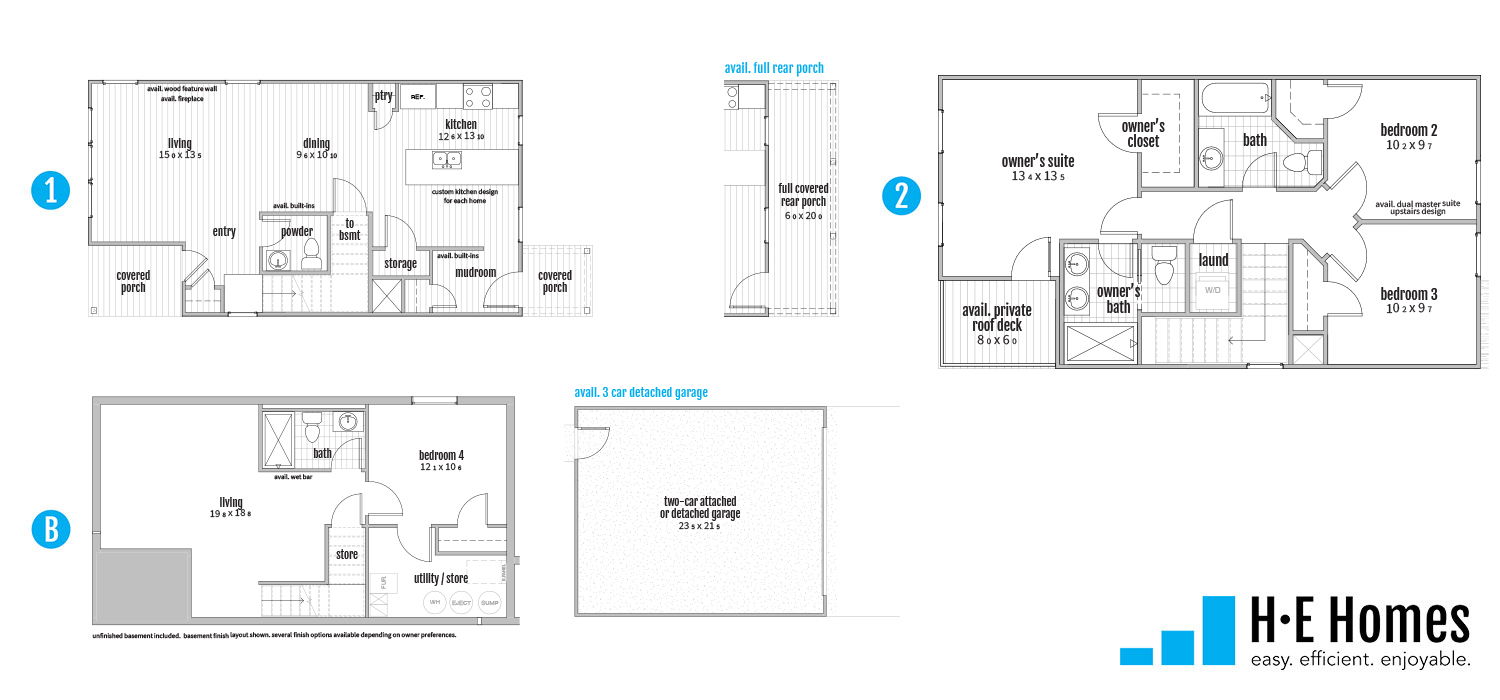 Establish Floorplan - H-E Homes